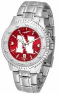 Nebraska Cornhuskers Competitor Steel AnoChrome Men's Watch
