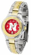 Nebraska Cornhuskers Competitor Two-Tone AnoChrome Women's Watch