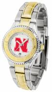 Nebraska Cornhuskers Competitor Two-Tone Women's Watch