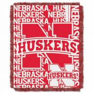 Nebraska Cornhuskers Double Play Woven Throw Blanket