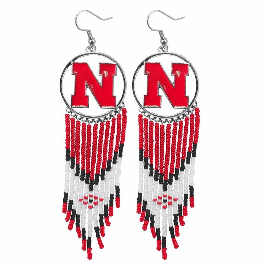 Nebraska Cornhuskers Dreamcatcher Earrings
