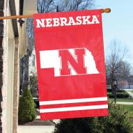 Nebraska Cornhuskers NCAA Embroidered / Applique College Flag Banner