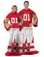 Nebraska Cornhuskers Full Body Comfy Throw Blanket