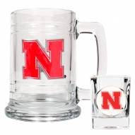 Nebraska Cornhuskers Glass Mug & Shot Glass Set