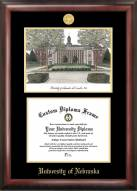 Nebraska Cornhuskers Gold Embossed Diploma Frame with Lithograph