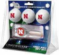 Nebraska Cornhuskers Golf Ball Gift Pack with Kool Tool