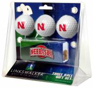 Nebraska Cornhuskers Golf Ball Gift Pack with Slider Clip