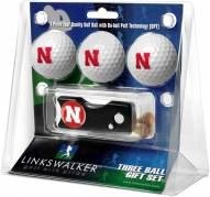 Nebraska Cornhuskers Golf Ball Gift Pack with Spring Action Divot Tool