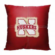 Nebraska Cornhuskers Letterman Pillow