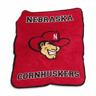 Nebraska Cornhuskers Mascot Throw Blanket