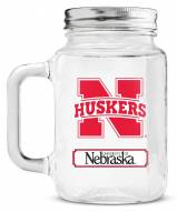 Nebraska Cornhuskers Mason Glass Jar