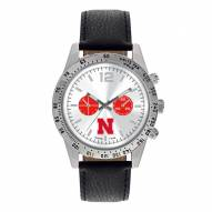 Nebraska Cornhuskers Men's Letterman Watch
