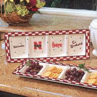 Nebraska Cornhuskers NCAA Ceramic Relish Tray