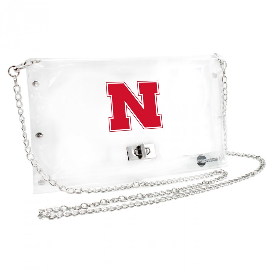 Nebraska Cornhuskers NCAA Clear Envelope Purse