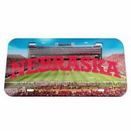 Nebraska Cornhuskers Crystal Mirror License Plate
