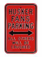 Nebraska Cornhuskers NCAA Embossed Parking Sign
