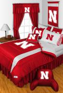 Nebraska Cornhuskers NCAA Sideline Bed Set
