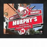 Nebraska Cornhuskers Personalized Framed Sports Pub Print