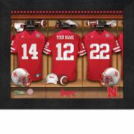 Nebraska Cornhuskers Personalized Locker Room 11 x 14 Framed Photograph