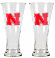 Nebraska Cornhuskers College 2-Piece Pilsner Glass Set