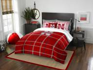 Nebraska Cornhuskers Plaid Full Comforter Set