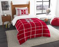 Nebraska Cornhuskers Plaid Twin Comforter Set