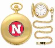 Nebraska Cornhuskers Pocket Watch - Gold