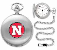 Nebraska Cornhuskers Pocket Watch - Silver