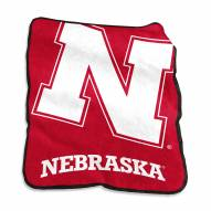 Nebraska Cornhuskers Raschel Throw Blanket