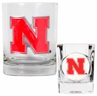 Nebraska Cornhuskers Rocks Glass & Shot Glass Set