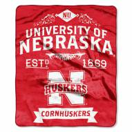 Nebraska Cornhuskers School Spirit Raschel Throw Blanket