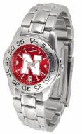 Nebraska Cornhuskers Sport Steel AnoChrome Women's Watch