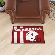 Nebraska Cornhuskers Uniform Inspired Starter Rug