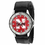 Nebraska Cornhuskers Veteran Velcro Mens Watch