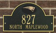 New England Patriots NFL Personalized Address Plaque - Black Gold