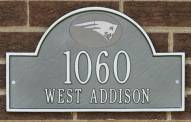 New England Patriots NFL Personalized Address Plaque - Pewter Silver