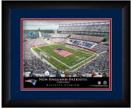 New England Patriots 13 x 16 Personalized Framed Stadium Print