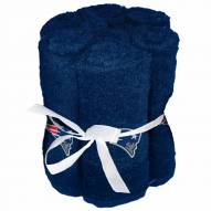 New England Patriots 6 Pack Washcloths