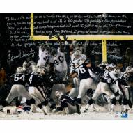 "New England Patriots Adam Vinatieri Snow Kick Story Signed 16"" x 20"" Photo"
