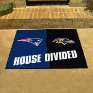 New England Patriots/Baltimore Ravens House Divided Mat