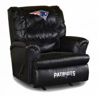 New England Patriots Big Daddy Leather Recliner