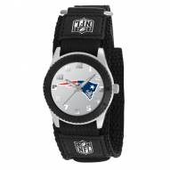 New England Patriots Black Rookie Kids Watch