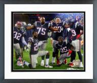 New England Patriots Celebrate AFC Championship Game 2014 Playoffs Framed Photo