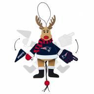New England Patriots Cheering Reindeer Ornament