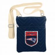 New England Patriots Crest Chevron Crossbody Bag