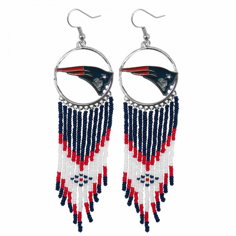 New England Patriots Dreamcatcher Earrings