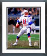 New England Patriots Drew Bledsoe 1997 Action Framed Photo
