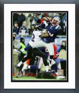 New England Patriots Duron Harmon 2014 Playoff Action Framed Photo