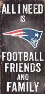 New England Patriots Football, Friends & Family Wood Sign