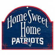 New England Patriots Home Sweet Home Arched Wood Sign